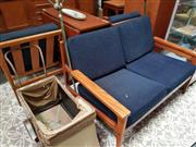 Sale 8476 - Lot 1063 - Danish Teak Three Piece Lounge Setting incl. Pair of Armchairs & Two Seater Sofa