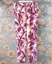 Sale 8474A - Lot 10 - A stunning pair of vintage 100% silk trousers in paisely/ peacock design, slightly worn, size 42