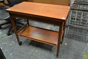 Sale 8511 - Lot 1080 - Everest Teak Fold-Over Tea Table on Castors