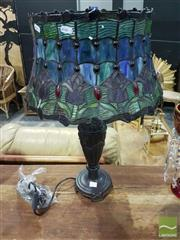 Sale 8532 - Lot 1021 - Leadlight Shade Table Lamp