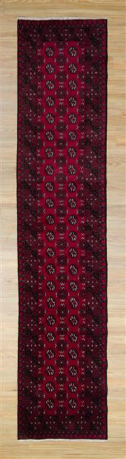 Sale 8559C - Lot 23 - Afghan Turkman Runner 380cm x 82cm