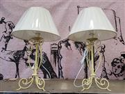 Sale 9017 - Lot 1035 - Collection of 4 Wrought Iron Table Lamps- 5558 (h:55cm)