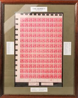 Sale 9110 - Lot 87 - A King George V set of One Penny printed stamps, with all variations in frame