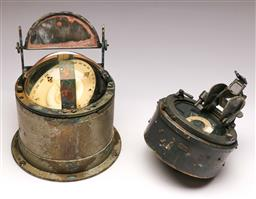 Sale 9136 - Lot 258 - A Vintage compass and binnacle