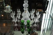 Sale 7977 - Lot 20 - Cristal DArques Drinks Set & a Coloured Glass Sherry Set