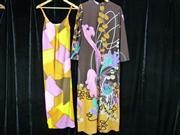 Sale 7982B - Lot 168 - Multi-coloured jersey dress (8-10), Multi-coloured floral gown with A-line (16)
