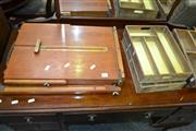 Sale 8093 - Lot 1131 - Timber Painters Easel & 4x Vintage Timber Drawers