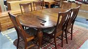 Sale 8147 - Lot 1040 - Extension Table, 2 Leaves & 6 Chairs (Winder in Office)