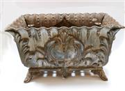 Sale 8256A - Lot 28 - An antique French cast iron garden jardinière. Size: 60 x 33 x 38 cm