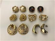 Sale 8369A - Lot 376 - Six pairs of costume jewellery earrings