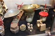 Sale 8379 - Lot 129 - Vintage Scales with Assorted Weights
