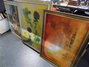 Sale 8417T - Lot 2052 - Large Framed Artworks (3), Oil, Acrylic & Print