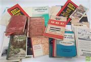 Sale 8900 - Lot 11 - Box of Maps & Ephemera mostly Traveling Around Sydney incl. Going Places; Robinsons Weekend Motor Map; Sneddon, R. About the W...