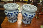 Sale 8431 - Lot 1021 - Chinese Drum Stools