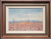 Sale 8443 - Lot 517 - Jack Absalom (1927 - ) - Eastern MacDonald Ranges, N.T 24 x 37cm