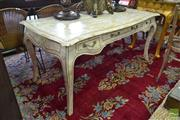 Sale 8500 - Lot 1215 - French Style Marble Clad Desk