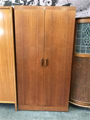 Sale 8741 - Lot 1097 - Two Door G Plan Teak Wardrobe