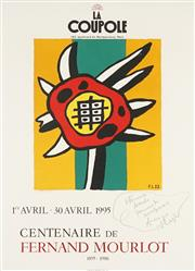 Sale 8794A - Lot 5091 - After Fernand Léger (1881 - 1955) - Centenaire de Fernand Mourlot, 1995 (at La Coupole, Montparnasse) 62.5 x 45.5cm
