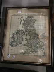 Sale 8797 - Lot 2269 - Framed Map of England, Ireland & Scotland