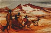 Sale 9047 - Lot 560 - Jacqueline Hick (1919 - 2004) - Noodlers in the Gully 19.5 x 29.5 cm (frame: 32 x 42 x 3 cm)