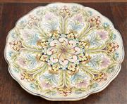 Sale 9081H - Lot 18 - A ceramic handcrafted large platter from Orvieto Italy, Diameter 43cm