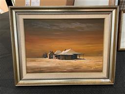 Sale 9163 - Lot 2051A - Rex Newell One Tree Pub, One Tree near Hay oil on board 54 x 70cm (frame) signed -