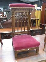 Sale 7919A - Lot 1713 - Victorian Carved Walnut Gothic Style Prayer Stool