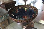 Sale 7982 - Lot 25 - English Floral Bowl Mounted in Pewter