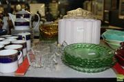 Sale 8217 - Lot 182 - Art Deco Pair of Light Shades with Other Glass Wares incl Depression Glass