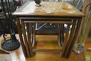 Sale 8275 - Lot 1012 - G-Plan Teak Nest of Tables with tiled top