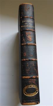 Sale 8256A - Lot 29 - Antique Book - THE JOURNAL of a NATURALIST by J L KNAPP. Third edition leather bound book published by John Murray in 1830. In good...