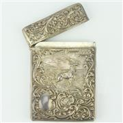 Sale 8332 - Lot 27 - English Hallmarked Sterling Silver Edward VII Calling Card Case