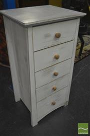 Sale 8338 - Lot 1348 - Shabby Chic Chest of Five Drawers