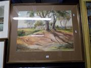 Sale 8429A - Lot 2046 - Mary Elisabeth (May) Neill (1910 - XX) - Lengthening Shadows, Mossvale 45 x 60cm