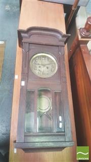 Sale 8444 - Lot 1017 - German 1920s Oak Wall Clock