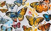 Sale 8451E - Lot 5029 - David Bromley (1960 - ) - Butterflies 77 x 126cm