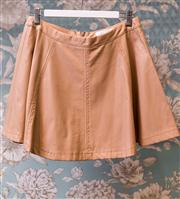 Sale 8474A - Lot 12 - A sweet Lovely Girl beige faux leather mini skirt, in excellent condition, size M