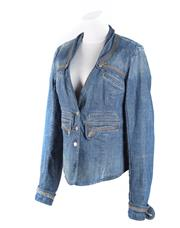Sale 8493A - Lot 45 - A Sass & Bide military style blue denim jacket, AU size 12