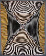 Sale 8535 - Lot 598 - Hilda Bird Petyarre (1950 - ) - Untitled 115.5 x 91cm (stretched & ready to hang)