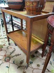 Sale 8589 - Lot 1048 - Tiered Timber Serving Trolley