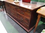 Sale 8611 - Lot 1032 - Timber 9 Drawer Sideboard