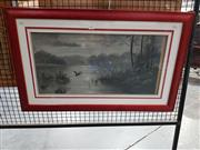 Sale 8699 - Lot 2020 - Artist Unknown - Lake Scene, acrylic on board, 48.5 x 78.5cm (frame size)