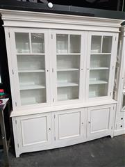 Sale 8740 - Lot 1010 - White 3 Door Bookcase