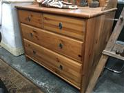 Sale 8782 - Lot 1342 - Modern Timber Chest of Four Drawers with Gallery Back