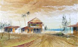 Sale 8945A - Lot 5016 - Maynard Waters (1936 - ) - Glenella, Pacific Highway QLD 26 x 42 cm