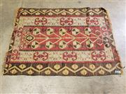 Sale 9080 - Lot 1027 - Antique Red and Green Tone Kilim (144 x 104cm)