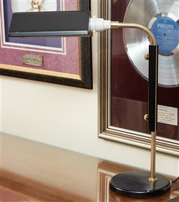 Sale 9097H - Lot 52 - A contemporary style bankers lamp, Height 47cm