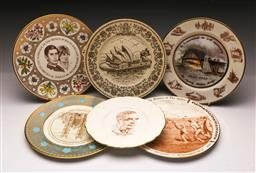 Sale 9110 - Lot 51 - A collection of commemorative cabinet plates inc Sydney Harbour Bridge, Opera House and others