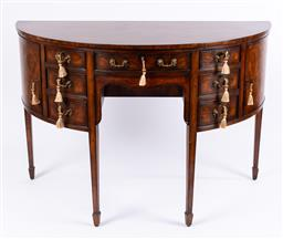 Sale 9135H - Lot 81 - A superb Theodore Alexander demilune sideboard, after the original in Allthorpe house (home of princess Dianna) 92cm Height, 67cm De...