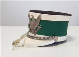 Sale 9188 - Lot 1065 - Vintage American marching band shako by J.W Bally & Son, Hollywood (size 71/2)